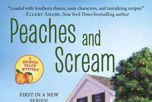 "Peaches and Scream, Georgia Peach Mysteries, Penguin Random House / Images for Peaches and Scream, the first book in the ""The Georgia Peach Mysteries"" ~ Berkley Prime Crime 7/2015"