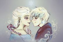 Jelsa / Pics of Jack Frost and Elsa from frozen (they would be the cutest couple EVER!!!!) / by Hannah Bettis