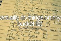 Bucket List / My bucket list / by Hannah Bettis
