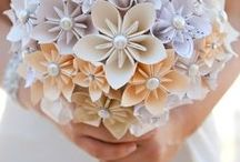 Paper and Weddings / Use paper for wedding invitations and decorations. Giant flowers are easy to make and can create beautiful table centerpieces or backdrops.