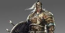 Fantasy Character - Viking / Inspirations guiding to a character concept and costume design