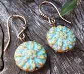 Jewelry using Dahlia Flower Beads