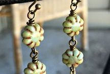 Jewelry using Cactus Flowers / Jewelry using Czech Glass Cactus Flower Beads, by Nirvana Beads