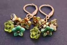 Jewelry using Bell Flowers / Jewelry made using Nirvana Beads Bell flower beads: Czech Glass Beads