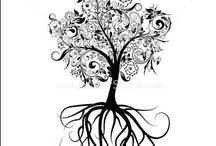tattoo, silhouette