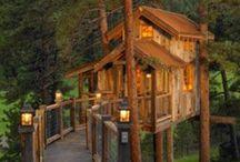 Tre hytter