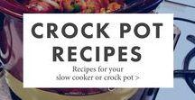 Crock Pot Recipes / Recipes for your slow cooker or crock pot