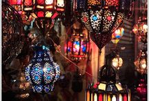 Moroccan/ bohemian style / bright colours, lights pure style....