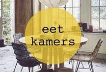 eetkamer ♡ shopinstijl.nl / Laat je inspireren door deze eetkamers en vind de perfecte eettafel, stoelen, eetkamerstoelen of hanglampen voor je eigen thuis. Scandinavisch, maar met een kleurrijke twist. Van bamboe lampen tot budget stoelen, van ronde tafels tot prachtig servies, en van rotan eetkamerstoelen tot design stoelen.