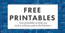 Free Printables / Free printables to help you rock it at home, work, and pretty much anywhere.