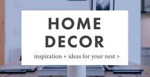 Home Decor Ideas & Inspiration / Home decor ideas and home decor on a budget, whether your style is country, rustic, modern, or vintage farmhouse -- and whether you own your home or you're renting your first apartment.