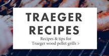 Traeger Recipes / Best easy Traeger recipes for chicken, beef, pork, seafood, pizza, turkey, vegetables, slamon, fish, ribs, potatoes... you name it!