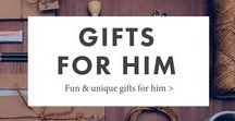 Gifts For Him / Fun & unique gift ideas for guys, men, husbands, dads, and boyfriends
