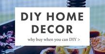 DIY Home Decor / Whether you're on a budget, just got your first apartment, or you just love perusing the dollar store, you'll want to try one of these fun DIY home decor projects.