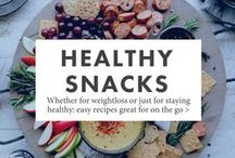 Healthy Snacks / Whether for weightloss or just for staying healthy: these easy recipes are great for on the go.