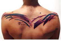 Brush Strokes Tattoo