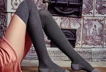 Marilyn - zakolanówki / socks / Zakolanówki - idealne na jesień i zimę. Elegancka i praktyczna ozdoba kobiecych nóg.