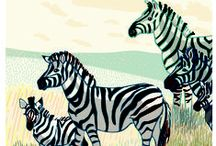 naturally wild life illustrations / African animals, flowers, birds