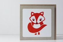 Animal Greeting Cards / Woodland Animal Cards / Pretty animals. All available in my etsy shop: http://www.grafiquelien.etsy.com