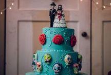 Sugar Skull/ Day of the Dead/ Desert Wedding / Wedding theme ideas inspired by Dia De Los Muertos Day of the Dead with plenty of sugar skulls!
