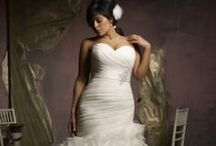 Wedding dress + veil