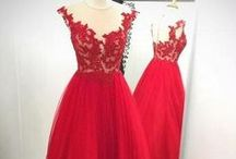 Wedding Red dress + shoes
