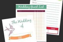 Wedding budget, timeline, program layout, planner