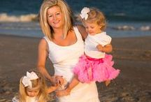 Family Portraits at the Beach / Family portraits at the Beach, Beach portrait inspiration, beach portraits and tutus