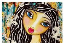 Mixed media, canvas art, art / by Hülya Pek Karakapıcı