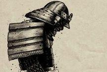 Samurais / Imagens e ilustrações sobre samurais