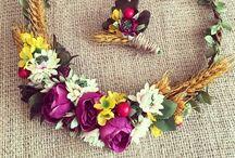 Çiçekli Taç / Flowerband / www.masalsiatolye.com