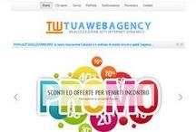 Schermate nuova versione sito TUAWEBAGENCY / Schermate tratte dalla nuova versione del sito http://www.tuawebagency.com Serve a dare un'idea del tipo di impostazione progettuale e di layout utilizzata per il sito