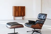 EAMES LOUNGE CHAIR SCHWARZ OTTOMAN