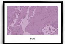 Map prints / City maps prints