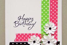 Washi tape kort födelsedag
