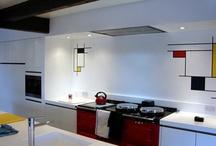 A unique kitchen project reinvents the famous style of Dutch artist Piet Mondrian / A unique kitchen project in the Lake District reinvents the famous style of Dutch artist Piet Mondrian