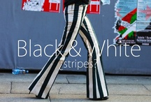 Black&White stripes. / http://www.noheels-noparty.com/2013/03/black-trend-alert.html