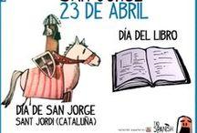 San Jorge y día del libro en España y Cataluña / El día 23 de abril es otra fiesta de España, se celebra el día de San Jorge (sant Jordi  en Cataluña) y el día del libro. Aprender cultura española y fiestas de España