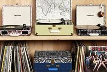 record players and lp's.