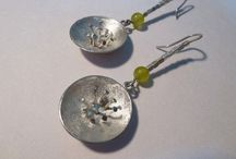 Aros / de plata 950, piedras naturales, crin, y otros