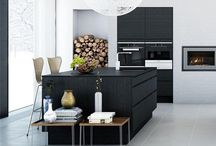 GL | Kitchen / I love minimalistic looking kitchens with wood, rvs, dark and white materials or an industrial look
