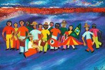 Carnaval em Arte Naif / Obras do acervo da Galeria Jacques Ardies relacionadas ao tema Carnaval.