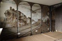 Murals - Locomotive depot / Murals. Maslova Ludmila.