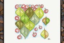 Joeys-weekly-tangle-challenge / Wöchentliche Herausforderung von Joey  Heilzeichnen, meditatives Zeichnen, Zeichnen für die Seele, Zeichnen zur Entspannung, Zeichnen gegen Stress, Zendoodle, Zentangle®, ZIA, ...