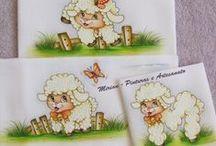 Minhas Pinturas - Kits de Fraldas / Kit de Fraldas: 1 Fralda Passeio - 70 x 70 cm 1 Fralda de Ombro - 70 x 35 cm 1 Fralda de Boca - 35 x 35 cm