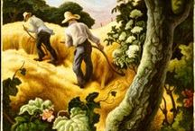 Art- Thomas Hart Benton / Sharing the artworks of Thomas Hart Benton (1889-1975), an American painter and muralist. Along with Grant Wood and John Steuart Curry, he was at the forefront of the Regionalist art movement