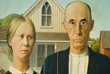 Art- Grant Wood / Sharing the artworks of Grant Wood (1891-1942), an American painter best known for his paintings depicting the rural American Midwest, particularly the painting American Gothic, an iconic image of the 20th century.