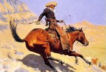 Art- Frederick Remington / Sharing the artworks of Frederick Remington (1861-1909), an American painter, illustrator, sculptor, and writer who specialized in depictions of the Old American West, specifically concentrating on the last quarter of the 19th-century American West and images of cowboys, American Indians, and the U. S. Cavalry
