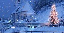 Bílé Vánoce, zimní příroda