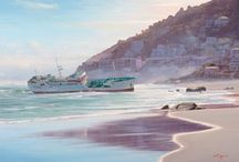 Western Cape Seascape Paintings / A selection of Western Cape seascape paintings by South African artist Andrew Cooper